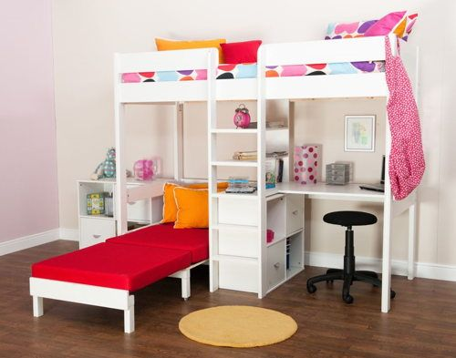 Loft Bed With Desk And Futon Chair Hoch Amp Etagenbetten