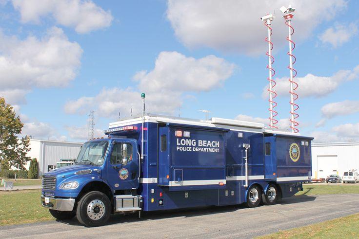 Mobile Command Shelters : Long beach ca pd freightliner ldv mobile command center