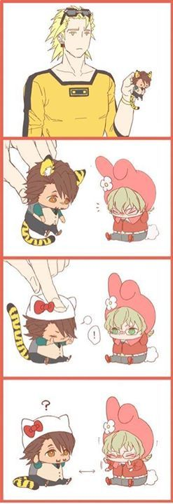 Ryan with Tiger and Bunny chibis<< that's pretty much the entire movie