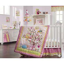 Kids Line Dena Happi Tree 9-Piece Crib Bedding Set girl room at babys r us, not all of it but bedding