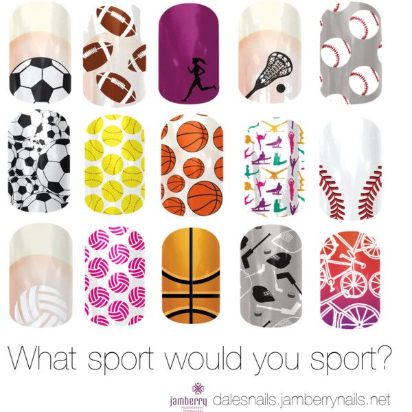 """""""What Sport Would You Sport? Jamberry Nails"""" by dalewayne on Polyvore"""