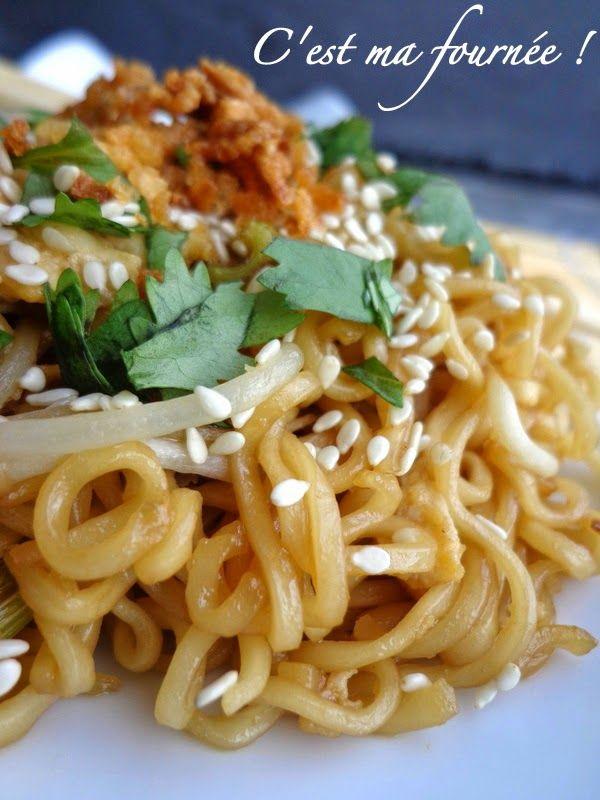"""C'est ma fournée !: Les nouilles sautées façon """"Wagamama"""" (The yakisoba noodles)"""
