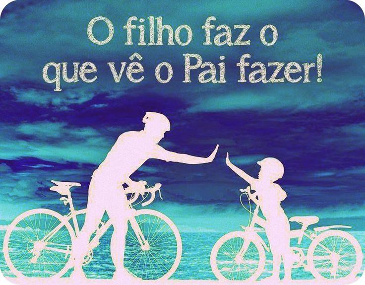 Dia dos pais #amor #ciclismo #vida #ensinamentos