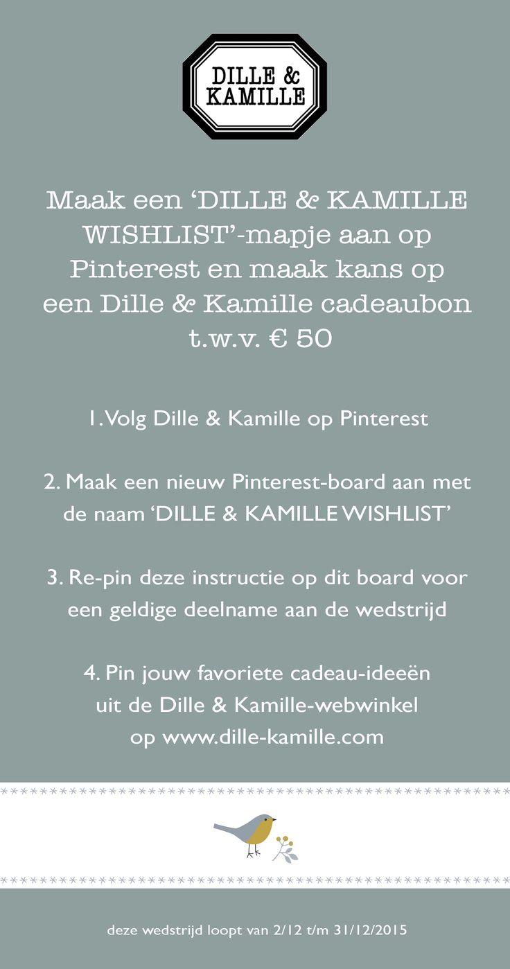 #wedstrijd #wishlist   Dille & Kamille