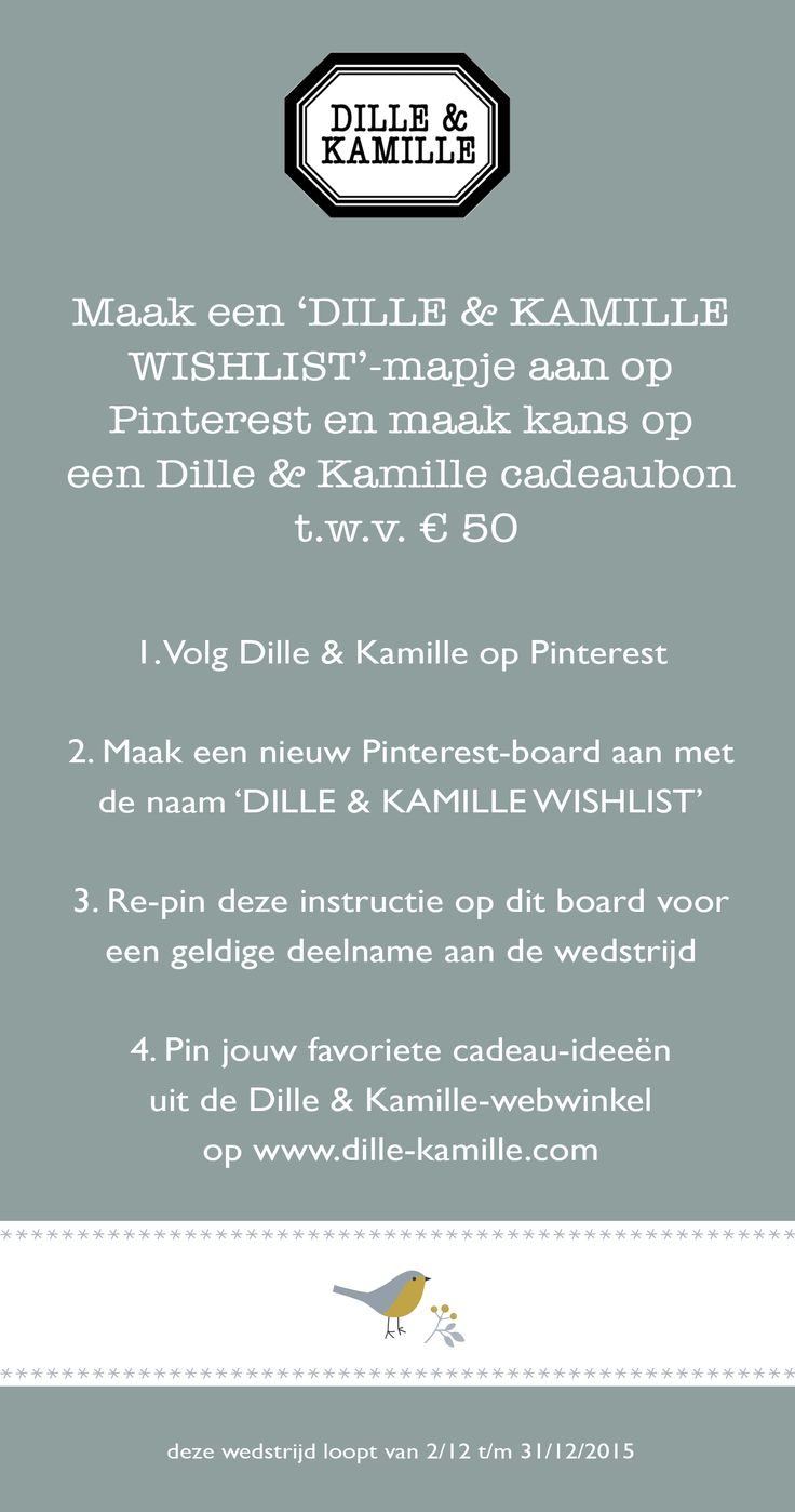 #wedstrijd #wishlist | Dille & Kamille