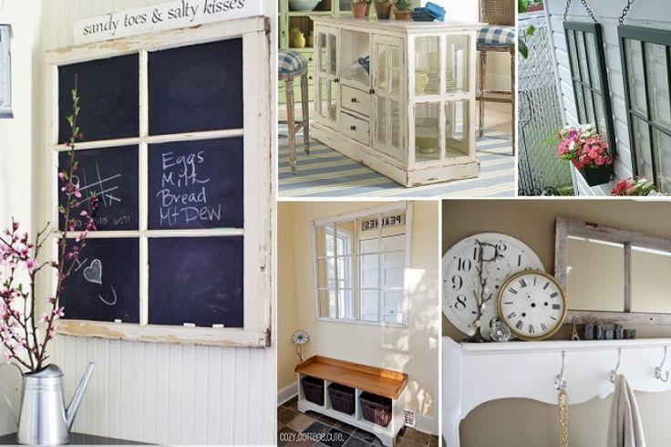 15 magnifiques projets réalisées à partir de vieilles fenêtres!