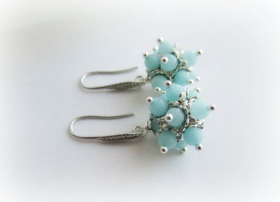 Amazonite earrings stone dangle earrings by MalinaCapricciosa
