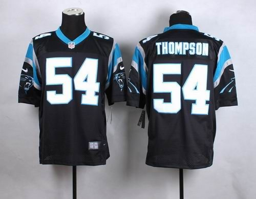 Nike Carolina Panthers #54 Shaq Thompson Black Elite Jersey 24.5$