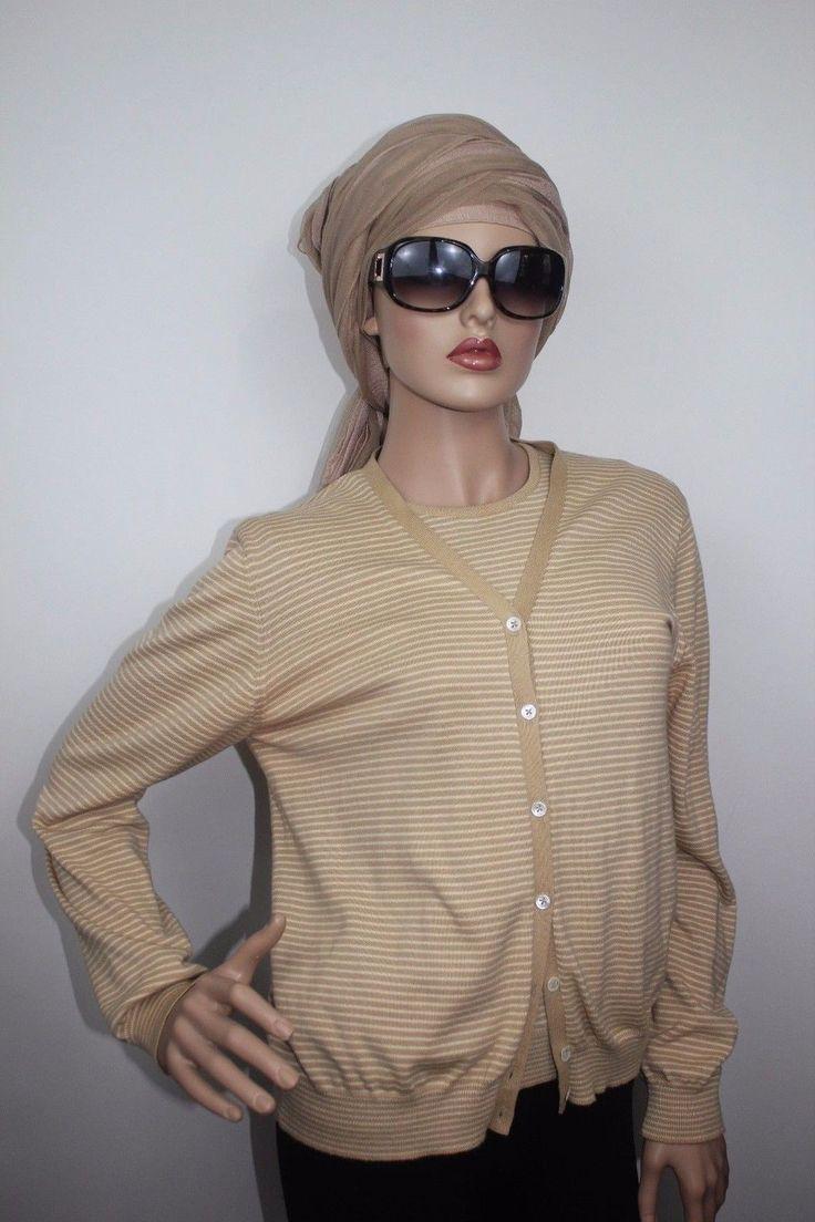 RALPH LAUREN Beige Two Piece Cardigan and Top Set Size M | eBay