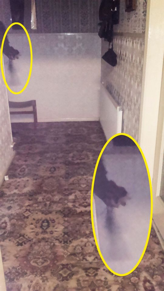 A team of paranormal investigators captured this eerie pic of a ghostly arm holding what looks like a rosary