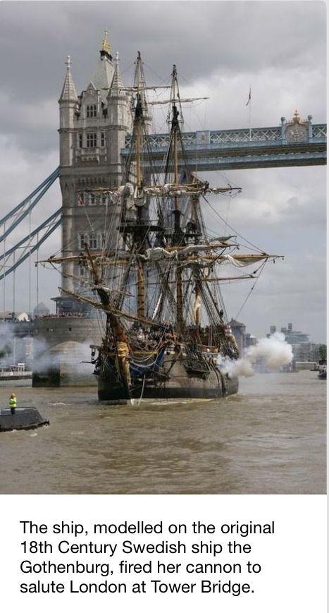 """Swedish 18th century masted ship """"Gothenburg"""""""
