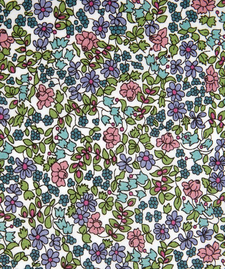 Liberty Art Fabric Emilia's Flowers D Tana Lawn | Classic Tana Lawn by Liberty Art Fabrics | Liberty.co.uk