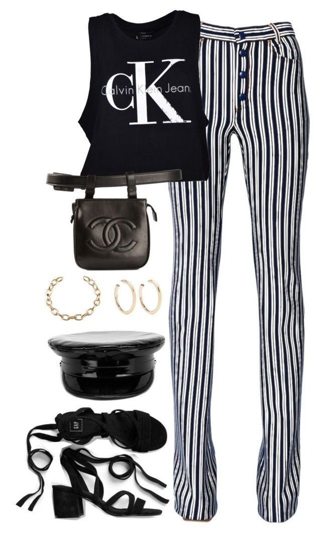 """""""Untitled #3897"""" by theaverageauburn ❤ liked on Polyvore featuring Sonia Rykiel, Calvin Klein, Chanel, Kenneth Jay Lane and Manokhi"""