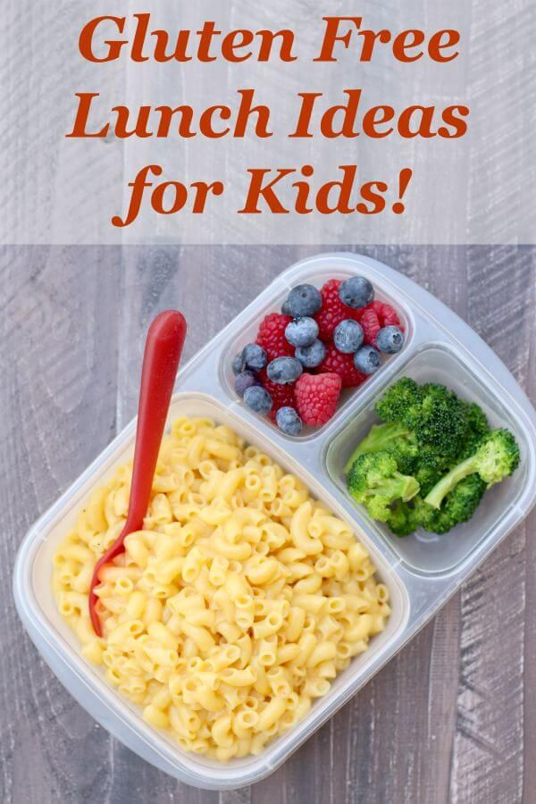 Gluten Free Lunch Ideas for Kids! Love these!