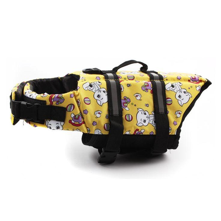 Pet Dog Save Life Jacket Safety Clothes Life Vest Outward Saver Pet Dog Swimming Preserver Large Dog Clothes Summer Swimwear #Affiliate