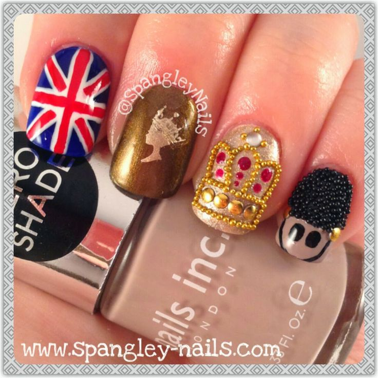 Spangley Nails: MoYou London: 31 Day Challenge - Day 6 London #NailArt #NOTD #SpangleyNails