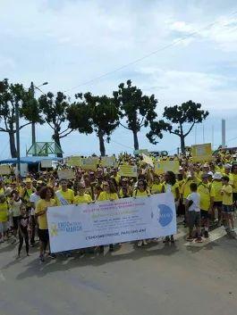 Hier se déroulait la 1er édition de l'endomarch à la Réunion avec une déferlante de jaune dans les rues de Trois bassin. Merci à vous tous pour votre présence. L'équipe souhaite remercier particulièrement Freddy et Rocaya, les parrains et marraines de cette endomarch, Joé Vany, figure locale, Azuima Issa, miss Réunion, Mr Pausé, maire de la ville, et les élus, ainsi que l'ensemble des artistes présents pour animer cette 1ère endomarch à la Réunion. Nous remercions Lindy, présidente de…