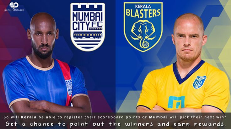 ISL 2016: Kerala Blasters FC vs Mumbai City FC at Jawaharlal Nehru Stadium, Kochi.  So will Kerala be able to register their scoreboard points or Mumbai will pick their next win? Get a chance to point out the winners and earn rewards.