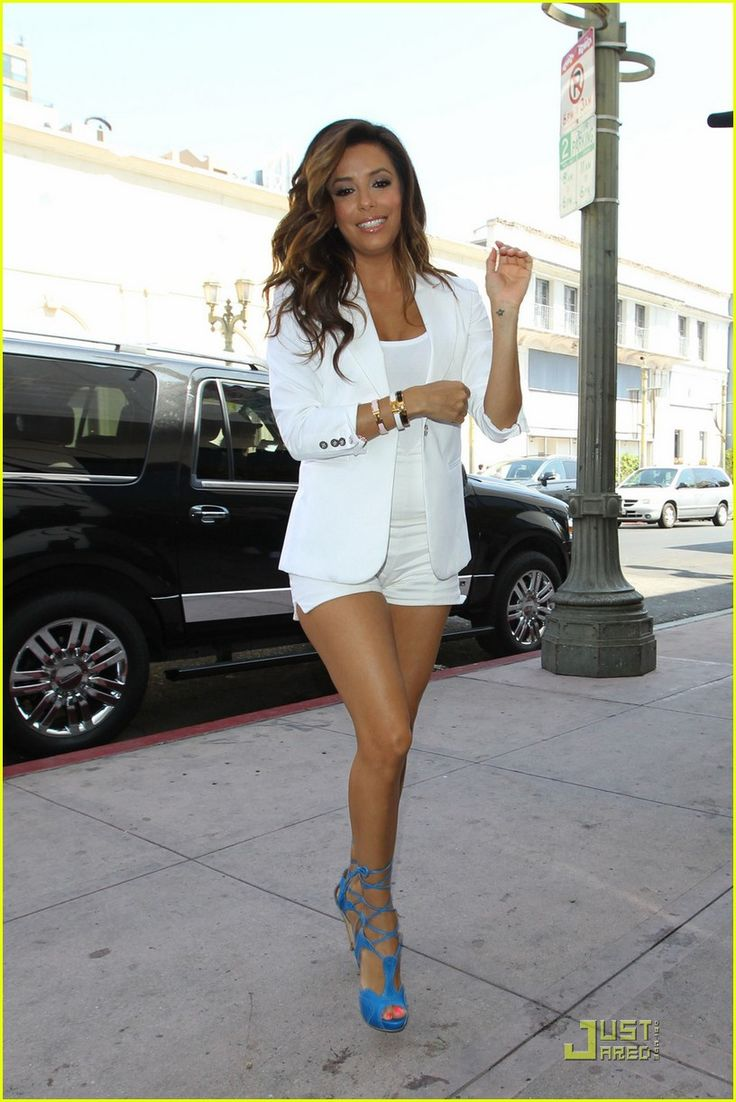 Eva Longoria . Model . Actress . Pose . Picture. All white . Shoes. Adore. Amazing . Latina . She is so sexy :)