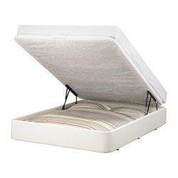 IKEA - ÖRJE, Estructura cama&almacenaje, 160x200 cm, , Debajo de la base de la cama, que se levanta, hay un práctico espacio para guardar almohadas, edredones o colchas.Una buena solución si tienes poco espacio.