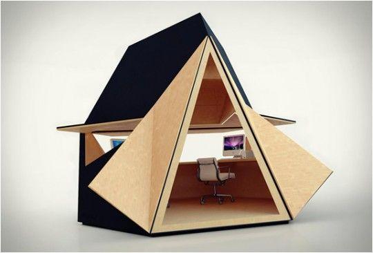 Tetra Shed cabane - bureau de jardin: Modern Gardens, Gardens Offices, Tetra, Offices Spaces, Backyards Offices, Workspaces, Sheds, Design, Home Offices