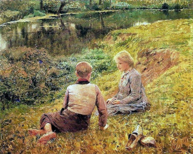 The Athenaeum - Children in a Landscape (Emil Claus - )