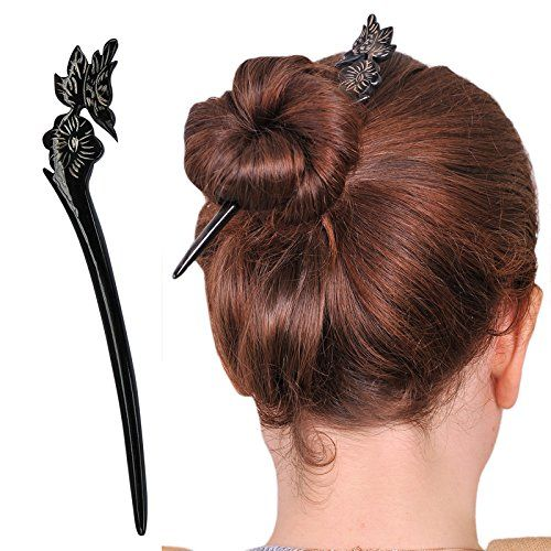 Wooden Hair Stick Pin with Shell - 1 Item wxzTwCzb