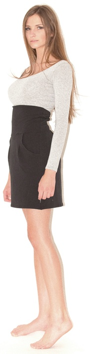 long sleeve tee high waisted mini - gathered peg pants, hot international trend, ties up at front, volumes at top and tapers at ankle, high waisted