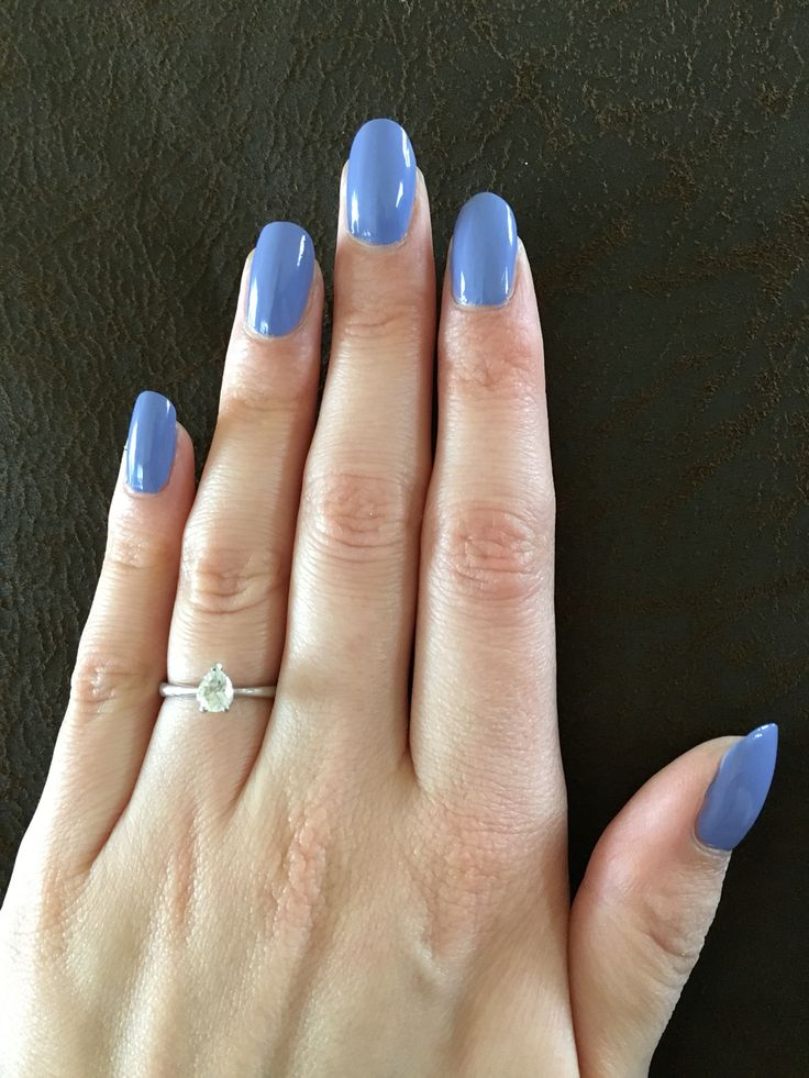 Champneys Wisteria nail polish on natural nails