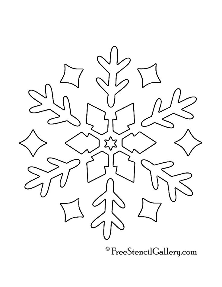 Snowflake Stencil 10 Sil Baby Cricut Stencils