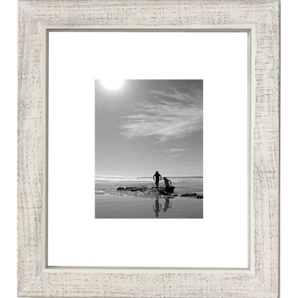 11 X 14 Washed Wood Frame White Threshold In 2020 Rustic Picture Frames White Picture Frames White Frame