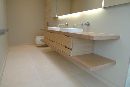 Bespoke bathroom cabinet in limed oak