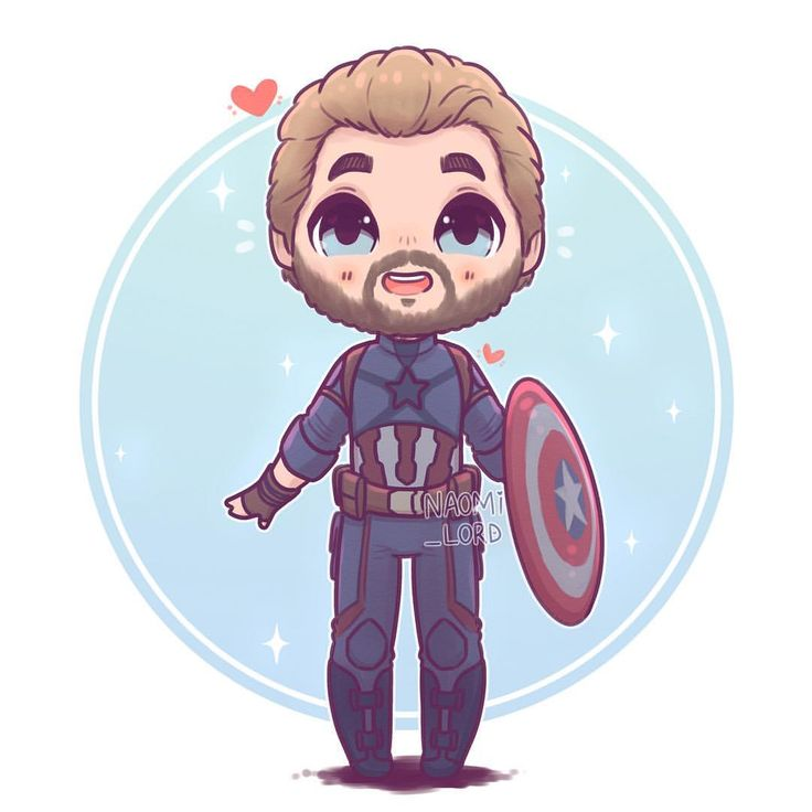 ✨✨ Captain America ✨✨ he's a bit of a cinnamon roll :3 Credit to Naomi…