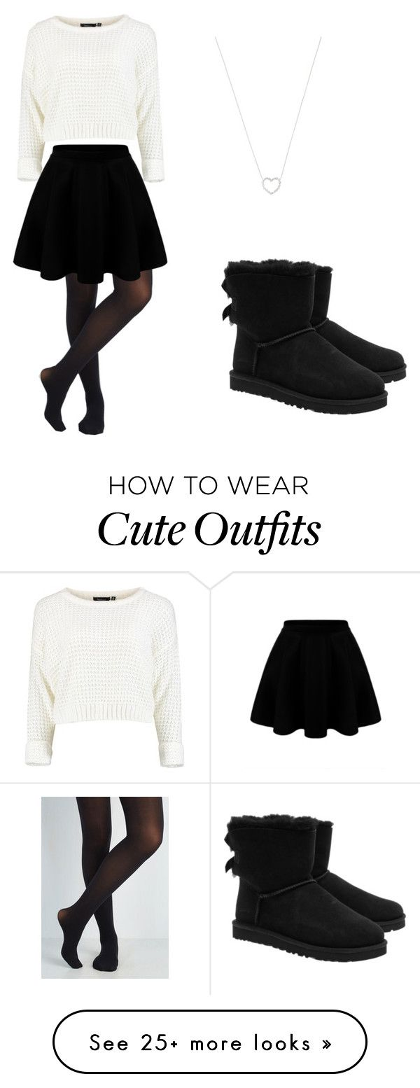 """Cute holiday outfit!!! "" by andyveliz on Polyvore featuring Tiffany & Co. and UGG Australia"