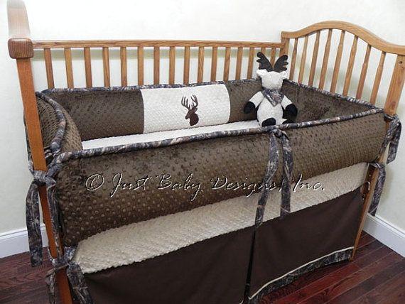 Custom Baby Crib Bedding Set Paxton Brown by BabyBeddingbyJBD