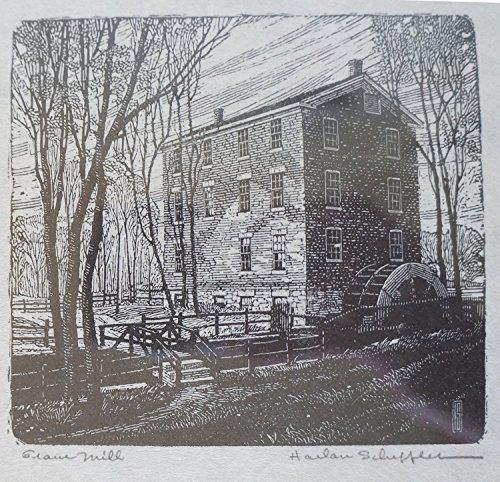 Pencil Etching of the Historic Graue Grain Mill, Chicago Area Est. 1852 by Late Harlan Scheffler (Signed by the Artist) http://www.amazon.com/dp/B00XLENSHO/ref=cm_sw_r_pi_dp_4wexvb0Y8WM8X