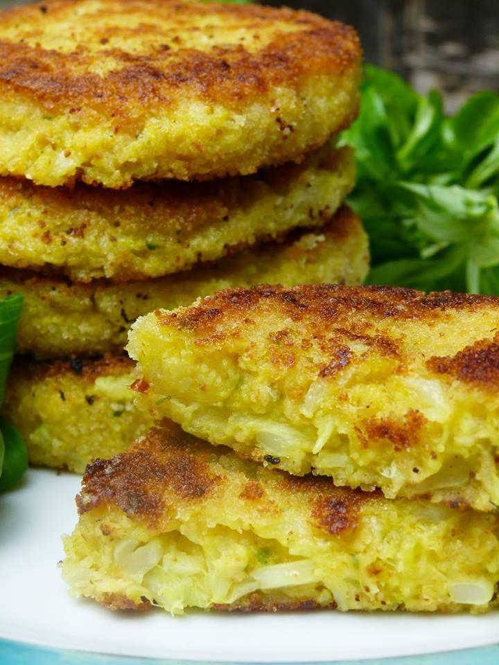 Vegane Kartoffel Blumenkohl Puffer - super lecker & einfach
