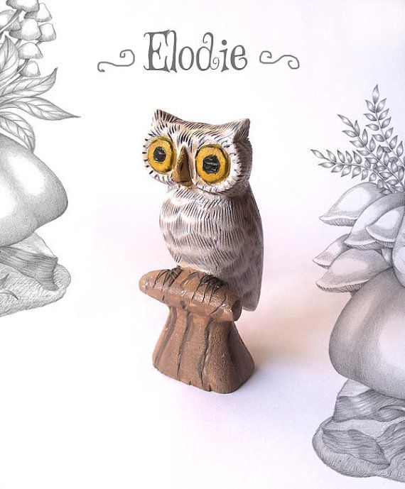 CLEARANCE SALE Elodie the White Owl  whimsical by TheWishForest, $25.00