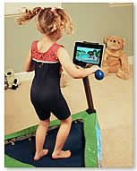 JumpSport iBounce Kids Trampoline - Bounce Along with RompyRoo Trampoline for Children
