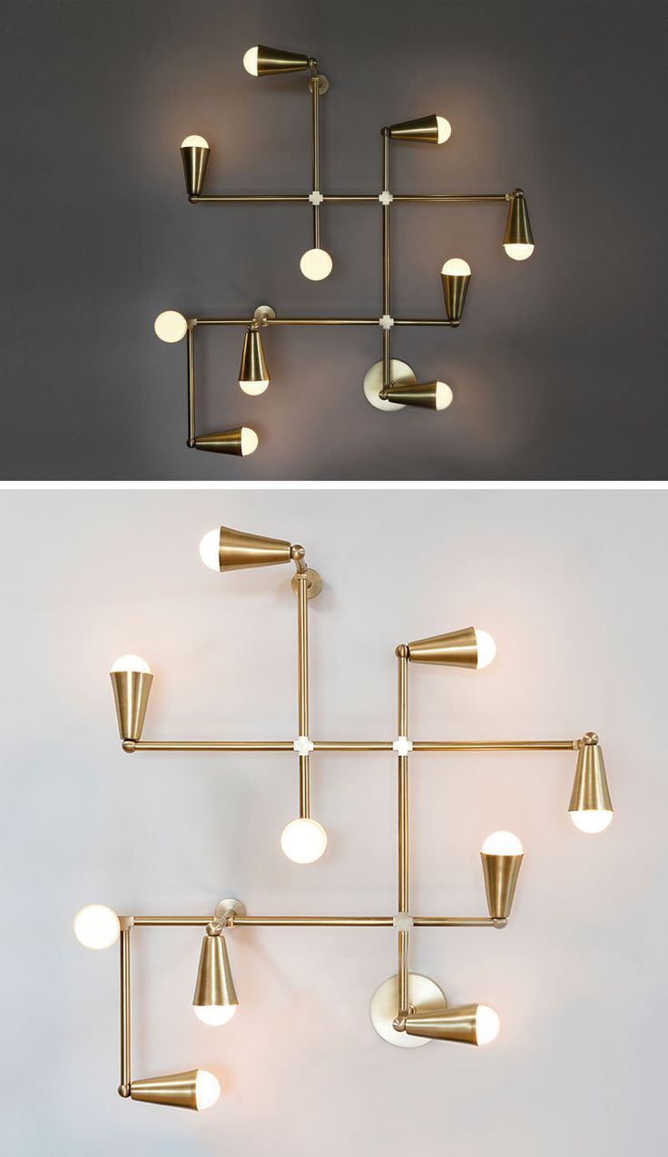 this sculptural brass light could also double as art for your walls or ceiling brass light lampswall