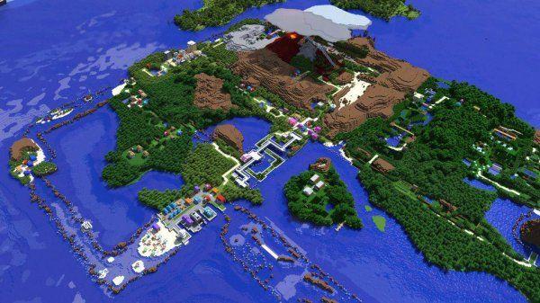 Hoenn Region of Pokemon Recreated In Minecraft - Dorkly Picture