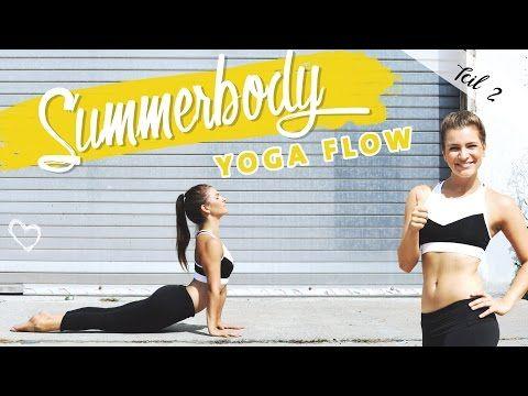 Summerbody Vinyasa Yoga Flow   Ganzkörper Workout für Bauch Beine Po Rücken - YouTube