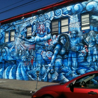 458 best mission san fran xiv images on pinterest for 18th street gang mural