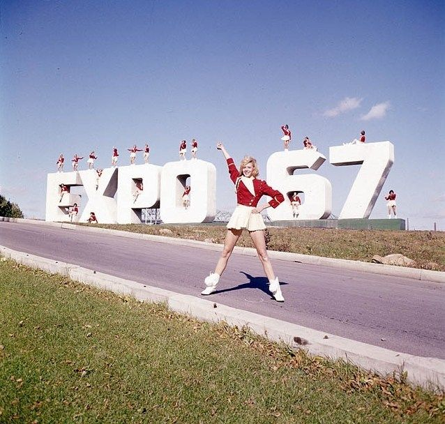 expo 67, montreal , world fair, cheerleaders
