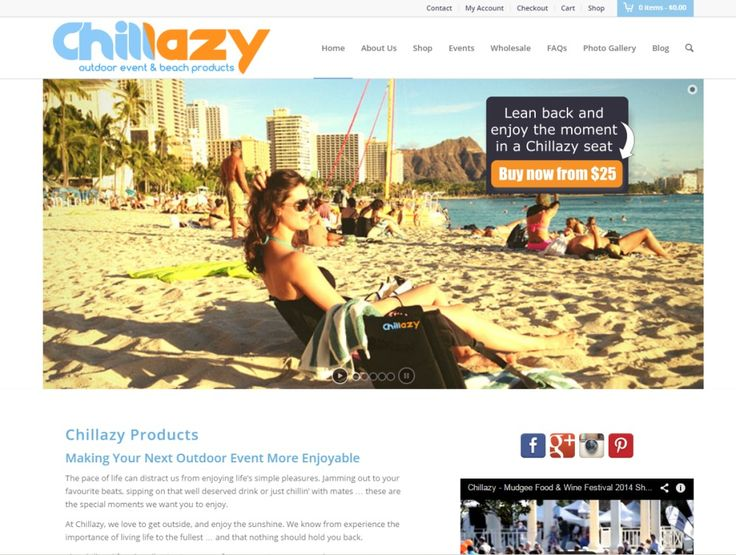 Website Design Gallery - Chillazy Products