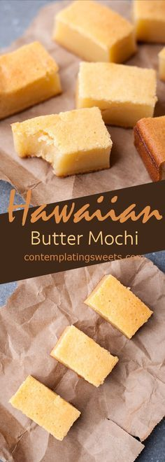 Butter Mochi- a classic Hawaiian treat made with coconut milk and mochiko (glutinous rice flour).