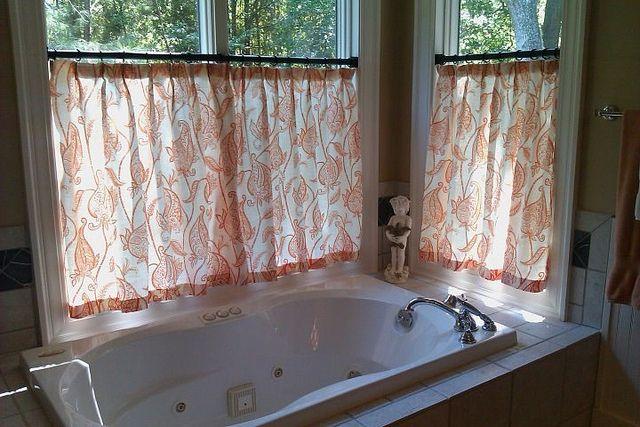 Master Bathroom Window Treatment by Posh Living