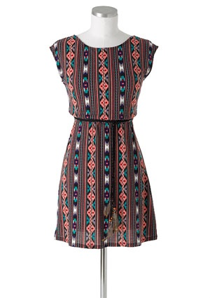 Tribal DressFashion, Spring Dresses, Style, Clothing, Delias, Dreams Closets, Vertical Tribal, Tribal Dresses, Feathers Belts