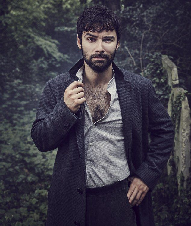 Aidan Turner's groomed chest won him many adoring fans - who may be surprised by the new hirsute look