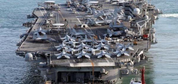The USS Ronald Reagan left the South Korean port of Busan on Thursday.